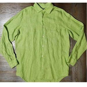 Banana Republic Men's Linen Summer Shirt Sz Lg